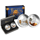 2015 Lunar Good Fortune Wealth & Wisdom 1 oz Proof Silver Two-Coin Set