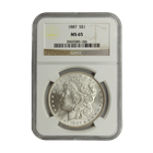 1887 Morgan Silver Dollar NGC MS65 (Serial # 9184)