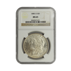 1885-O Morgan Silver Dollar NGC MS65 (Serial # 7071)
