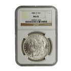 1885-O Morgan Silver Dollar NGC MS65 (Serial # 1026)