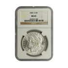 1885-O Morgan Silver Dollar NGC MS65 (Serial # 7080)