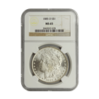 1885-O Morgan Silver Dollar NGC MS65 (Serial # 7078)