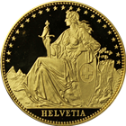 1987 1 oz Proof Gold Switzerland Helvetia - The Matterhorn