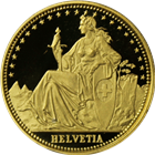 1986 1/10 oz Switzerland Proof Gold Helvetia - The Matterhorn
