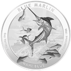 2015 Guy Harvey© 1 oz Silver Round - Series 1 - Blue Marlin Brilliant Uncirculated (.999 Pure)