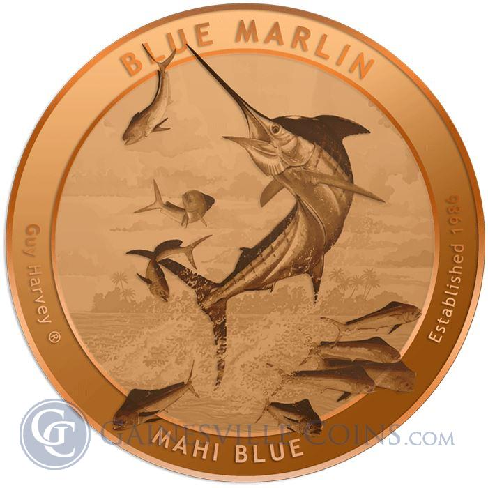 Image Showcase for 2015 Guy Harvey© Copper Round 1 AVDP Ounce - Gainesville Coins Exclusive (.999 Pure)