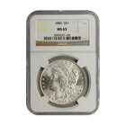 1886 Morgan Silver Dollar NGC MS65 (Serial # 7160)