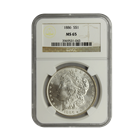 1886 Morgan Silver Dollar NGC MS65 (Serial # 1043)
