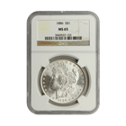 1886 Morgan Silver Dollar NGC MS65 (Serial # 7153)