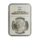 1886 Morgan Silver Dollar NGC MS65 (Serial # 7158)
