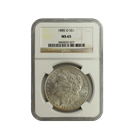 1885-O Morgan Silver Dollar NGC MS65 (Serial # 7077)