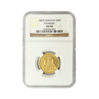 1887 J Germany 20 Mark Gold Coin NGC AU58