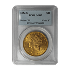 1882-S $20 Gold Liberty PCGS MS62