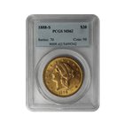 1888-S $20 Gold Liberty PCGS MS62