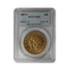 1887-S $20 Gold Liberty PCGS MS62