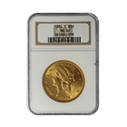 1884-S $20 Gold Liberty NGC MS62