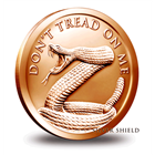 2015 Don't Tread On Me 5 AVDP Ounce  Copper Round - Silver Shield (.999 Pure)