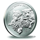 2015 Year Of The Sheep 1 oz Silver Round - Silver Shield (.999 Pure)