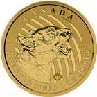 2015 Canada 1 oz Gold Growling Cougar - Call Of The Wild Series