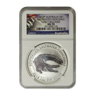 2014 Saltwater Crocodile 1 oz Silver NGC MS70 Early Release