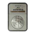 2010 American Silver Eagle NGC MS70