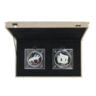 1996 Zaire Leopard (16.075 oz)  and Gorilla (32.15 oz)  Silver Proof Set With Box and Certs