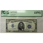1934 $5 Silver Certificate Fr#1650 PCGS 64PPQ  (Stock photo)