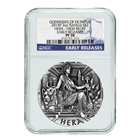 2015 Hera Goddess Of Olympus 2 oz High Relief Silver Coin NGC PF70 ER - Australia Perth Mint
