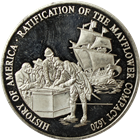 Ratification Of The Mayflower Compact  1620 Proof Silver Round (.65 oz ASW) .999 Pure