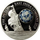 Royal Delft $10 Cook Islands Proof Silver Coin - Dutch East India Company
