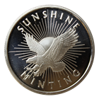 1 oz Silver .999 Round minted by the Sunshine Mint
