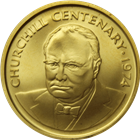 1974 Cayman Islands $100 Winston Churchill Gold Coin (.3646 oz of Gold)