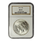 1926 Silver Peace Dollar NGC MS63