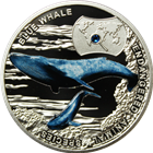 2014 Blue Whale Endangered Animal Species Proof Silver Coin - Niue