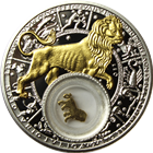 2013 Leo Zodiac Proof Silver Gilded Coin 20 Rouble Belarus