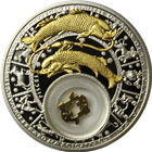 2013 Pisces Zodiac Proof Silver Gilded Coin 20 Rouble Belarus