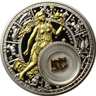 2013 Virgo Zodiac Proof Silver Gilded Coin 20 Rouble Belarus