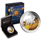 2015 Lunar Good Fortune - Wealth Goat 1 oz Proof Silver