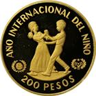 1982 Dominican Republic Proof Gold 200 Pesos Year Of The Child