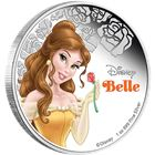 2015 Disney Belle 1 oz Proof Silver $2 Niue