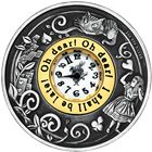 2015 Alice In Wonderland 2 oz Silver Clock Coin antique finish - Perth Mint