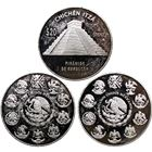 Mexico 20 Peso Chichen Itza 5 oz Proof Silver Coin (abrasions)