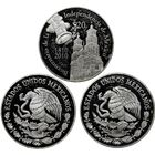 Mexico 2 oz Proof Silver Coin - 20 Pesos (Some Abrasions)