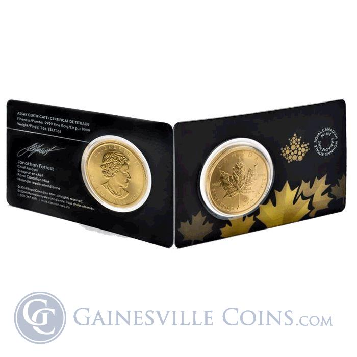 Image Showcase for 2015 Canadian Gold Maple Leaf 1 oz - In Assay Card