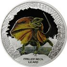 2013 Frilled Neck Lizard 1 oz Silver Proof Coin