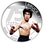 2015 Bruce Lee 1 oz Silver Proof Coin $1 Tuvalu - 75th Anniversary