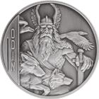 Odin 2 oz Double-Sided Ultra High Relief Silver Coin $5 Niue - Antique Finish