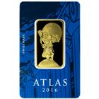 Atlas 1 oz Suisse Design Gold Bar Manufactured By PAMP - .9999 Pure In Assay (Gainesville Coins Exclusive)