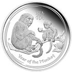 2016 Lunar Monkey 1 oz Proof Silver Coin - Australia