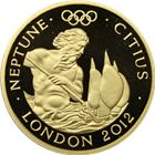 2010 Great Britain Neptune 1 oz Proof Gold Olympic Coin - With Box and COA